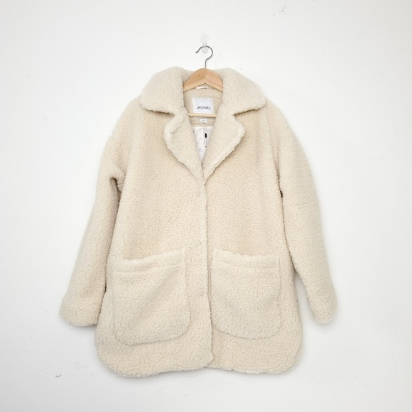 colours and striking bottom price top-rated quality NWT Monki sherpa shearling teddy fleece coat S NWT